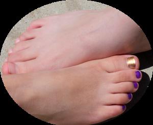 our feet.