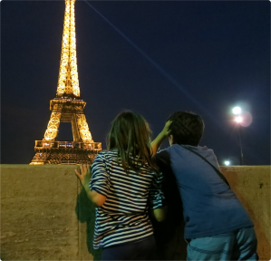 Watching the Eiffel Tower