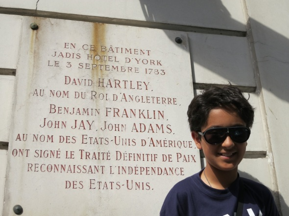 Me, in front of 56 Rue Jacob (was Hotel d'York)