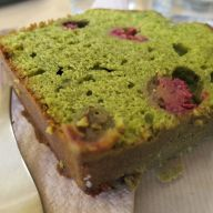 Day 3 / Green Tea & Rasberry cake